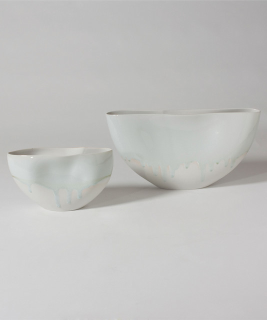 Studio A Glacier Pinched Bowl-Large transitional-home-decor