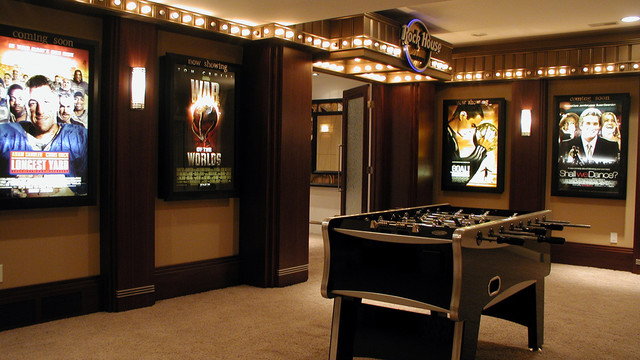 Rock House Theater contemporary media room