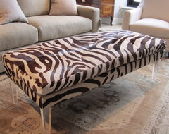 Bradley Ottoman In Zora Hide eclectic-footstools-and-ottomans