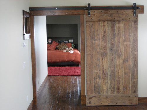 Double wide barn door, reclaimed lumber, industrial hardware. | Design  Ideas | Pinterest | Track, My house and Industrial - Double Wide Barn Door, Reclaimed Lumber, Industrial Hardware