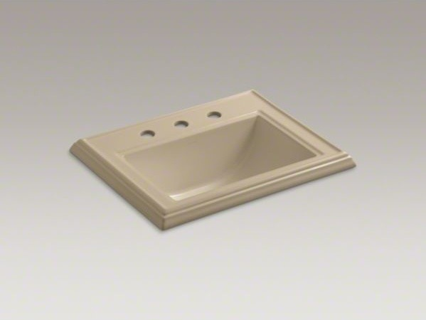 """KOHLER Memoirs(R) Classic drop-in bathroom sink with 8"""" widespread faucet holes contemporary-bathroom-sinks"""