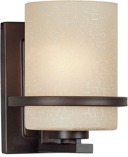 Antique Indoor Wall Sconces : Forte Lighting 2404-01-32 Antique Bronze Indoor Wall Sconce - Contemporary - Wall Sconces