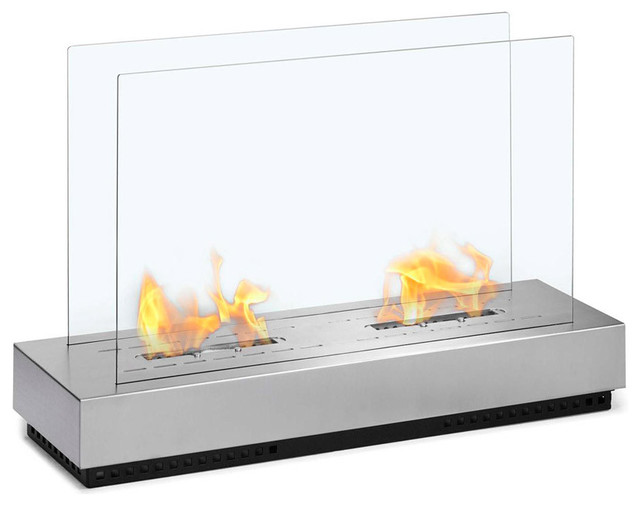 Free Standing Floor Indoor Outdoor Ethanol Fireplace Contemporary Fire Pits Other Metro