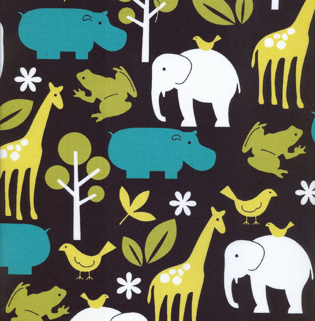 Fabric By The Yard Zoo Print Modern Upholstery Fabric By Rosenberry Rooms