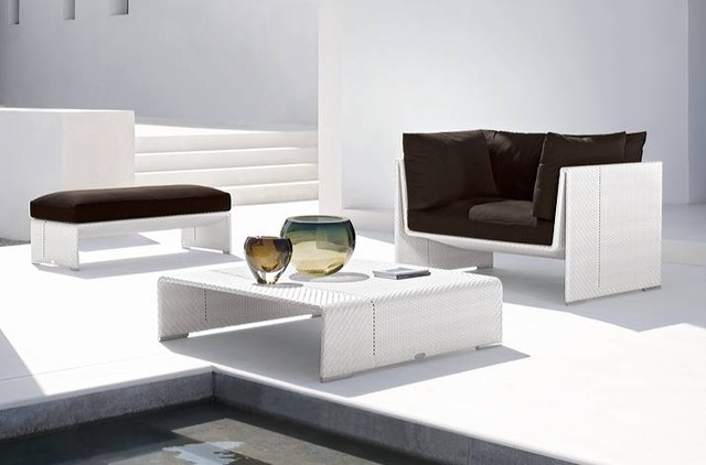Benevolo Rattan Sofa Set contemporary-outdoor-sofas