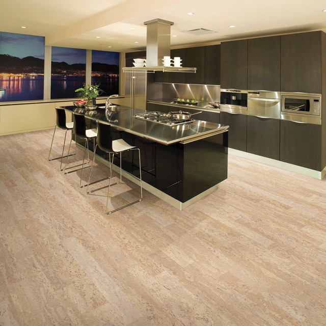 Cork floor contemporary
