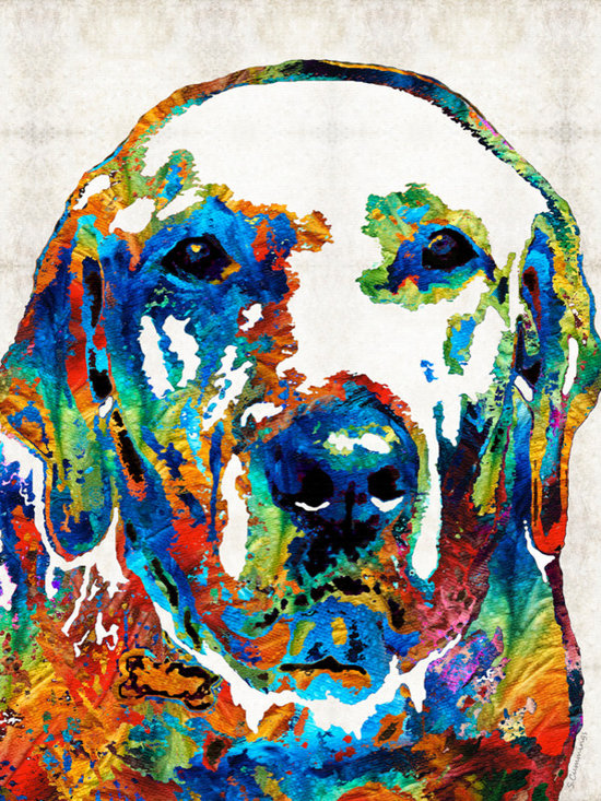 Animals, Fish and Birds - Labrador Retriever Art - Play With Me - By Sharon Cummings