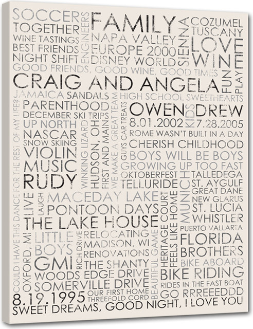 Canvas word art collection by Geezees modern