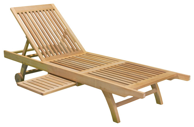 Cancun outdoor eucalyptus chaise lounge chair for Chaise eucalyptus