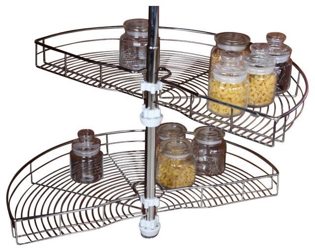 ... Wire Blind Corner Solution transitional-pantry-and-cabinet-organizers
