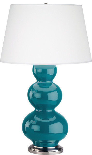 Triple Gourd Table Lamp, Peacock contemporary-table-lamps