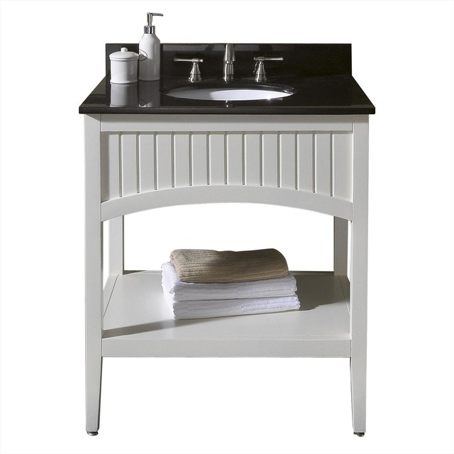 Avanity Beverly 30 In. Vanity Only White - traditional - bathroom