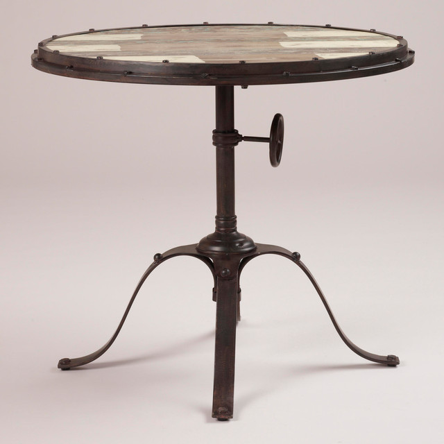 Hughes Industrial Accent Table Eclectic Side Tables And Accent Tables By Cost Plus World