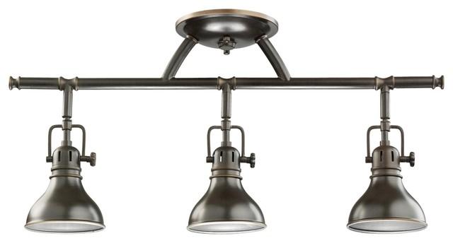 Shop Kichler Lighting 4 Light Bayley Olde Bronze Bathroom: Kichler Olde Bronze Halogen Swivel Ceiling Fixture