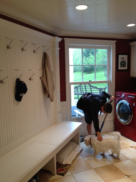 Mudroom & Laundry Room Makeover traditional