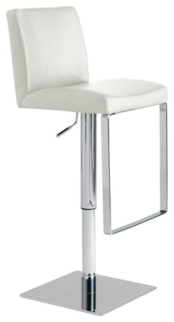 Matteo Adjustable Stool, White contemporary-bar-stools-and-counter-stools