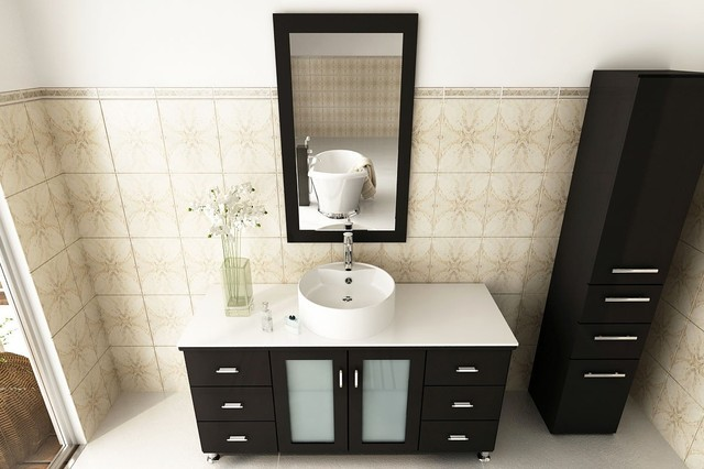 "47"" Grand Lune Bathroom Vanity With White Top modern"