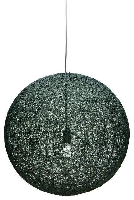 String 24 Single Bulb Pendant Light In Black By Nuevo