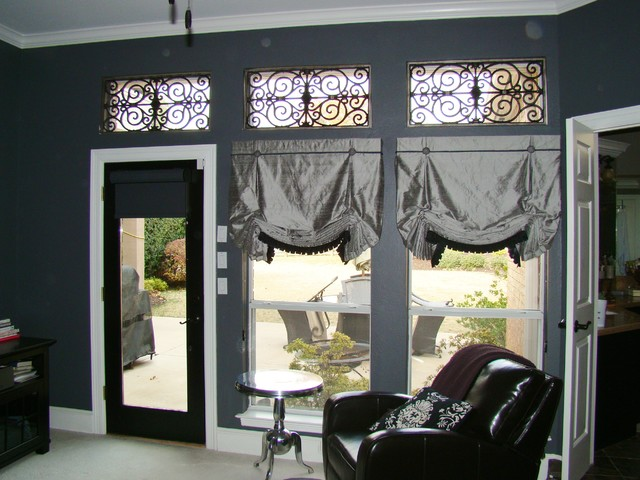 Roman Shades with faux iron in Southlake, TX traditional roman blinds
