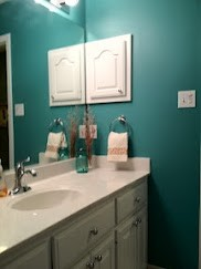 Teal Blue with lovely White Board and Batten