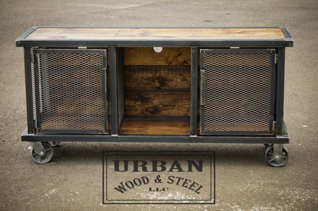 Urban Stereo Locker - Industrial - Console Tables - new york - by Urban Wood & Steel LLC