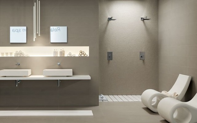 The Standard Collection Taupe Gray Contemporary Wall