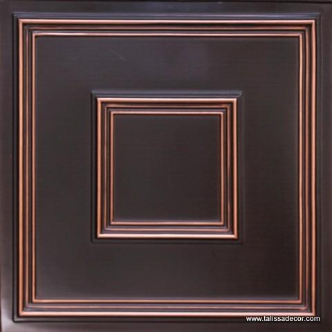 #208 Faux tin PVC ceiling tile in Antique Copper contemporary-ceiling-tile