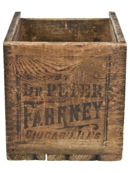 Wood Medicine Crate - Vintage Dr. Peter Fahrney Vitalizer shipping crate.