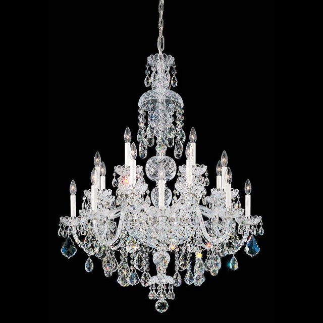 Schonbek olde world collection 25 light crystal chandelier traditional chandeliers - Traditional crystal chandeliers ...