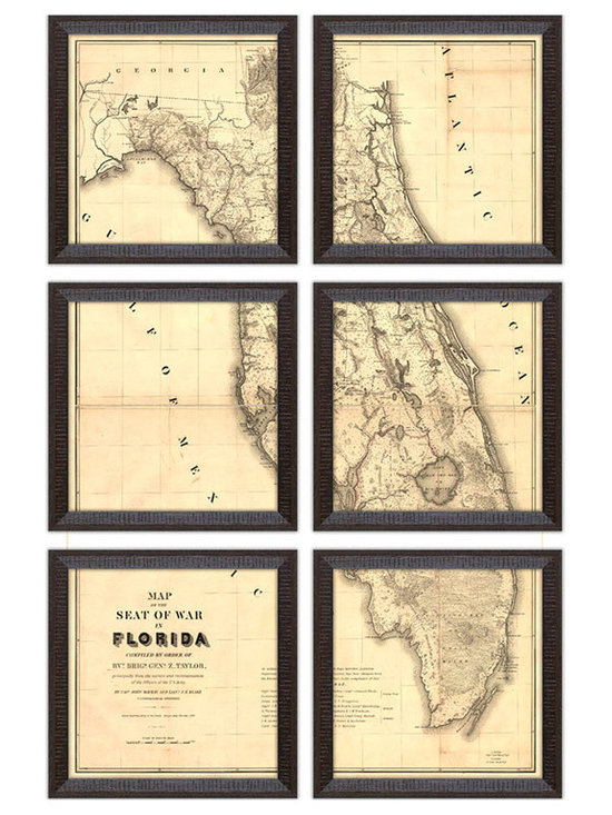 Big Fish Florida Wall Art, Set of 6