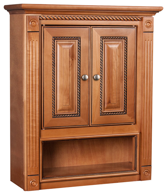 Cinnamon Maple Bathroom Wall Cabinet  Contemporary  Kitchen Cabinets