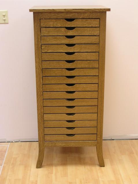 Quarter Sawn White Oak Scrapbooking Cabinet