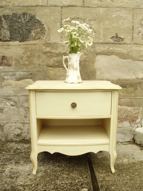 Vintage french glam bedside table traditional for French nightstand bedside table