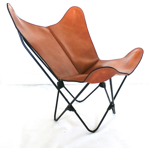 "Origina BKF ""Prima"" Butterfly Chair in Leather - Modern Icon Hardoy Sling Chairs contemporary-chairs"
