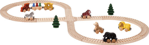 Natural Wooden Safari Toy Train Set traditional-kids-toys-and-games