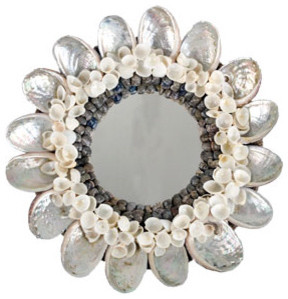 Abalone Shell Mirror eclectic-wall-mirrors