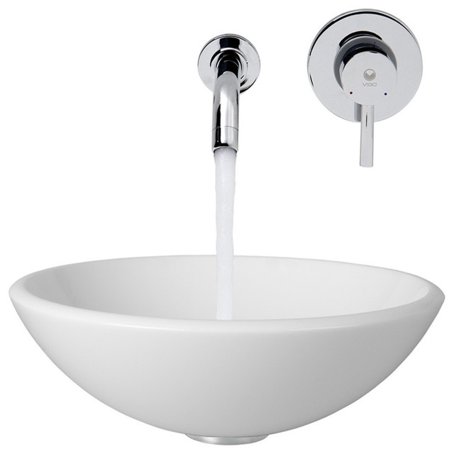 Vessel Sink Wall Mount Faucet : Vessel Sink with Wall Mount Faucet - Contemporary - Bathroom Sinks ...