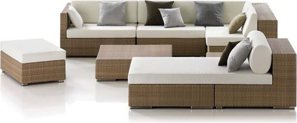 Linkin 7-Pieced Patio Sectional Set tropical-outdoor-sofas