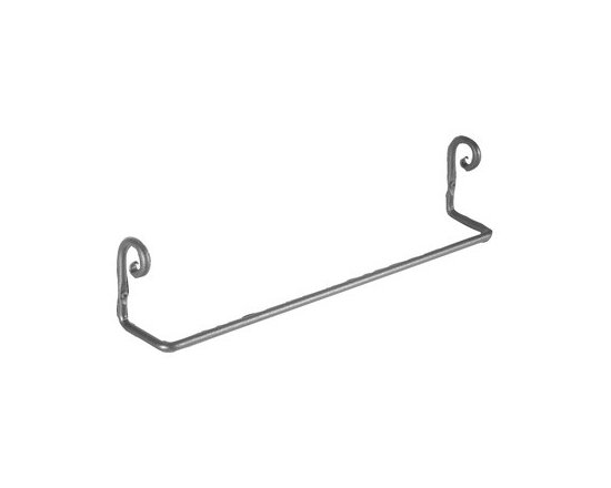 "Black Wrought Iron Towel Bar 18"" long - Protected by our exclusive Renovator's Supply Black wrought iron finish, this towel bar is wonderfully designed for a great look. Shop online and get FREE complimentary shipping for orders over $125."