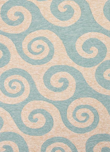 Coastal Pattern Blue Indoor Outdoor Rug CI12 7 6x9 6