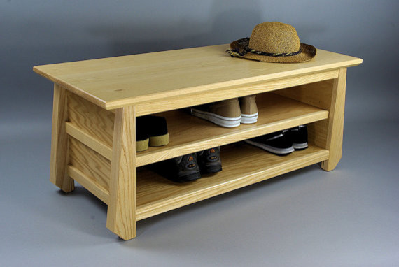 ... Style Shoe Storage Bench by Woodistry asian-accent-and-storage-benches
