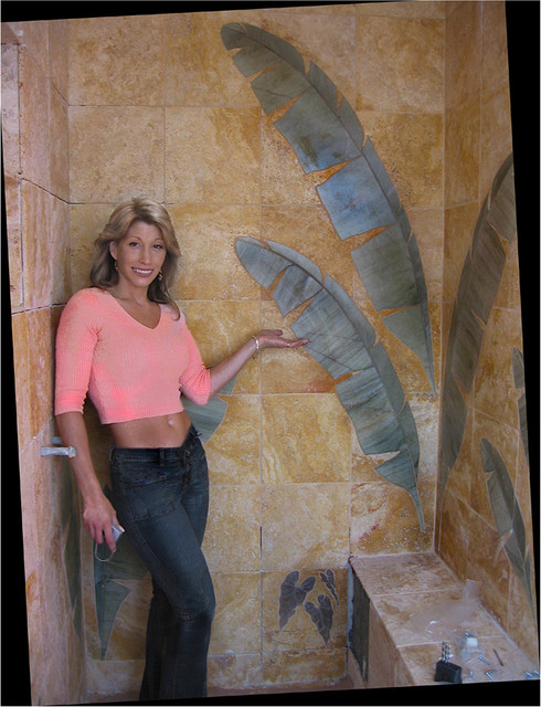 Shower Tile Mural Tropical Tile Los Angeles By