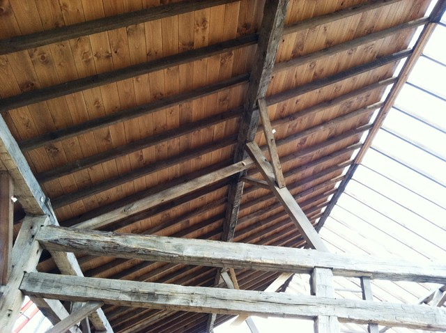Circa 1850 Reconstructed Barn Home traditional