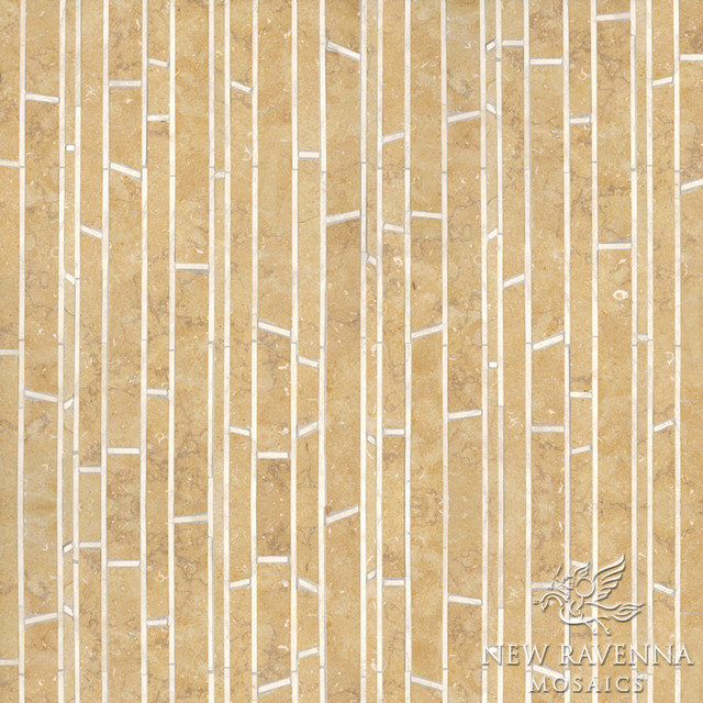 Bamboo Stone Mosaic - Contemporary - Tile - other metro - by New ...