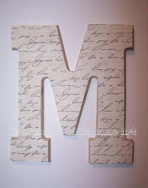 wooden wall letter design 12 by liza anne art modern With modern wall letters