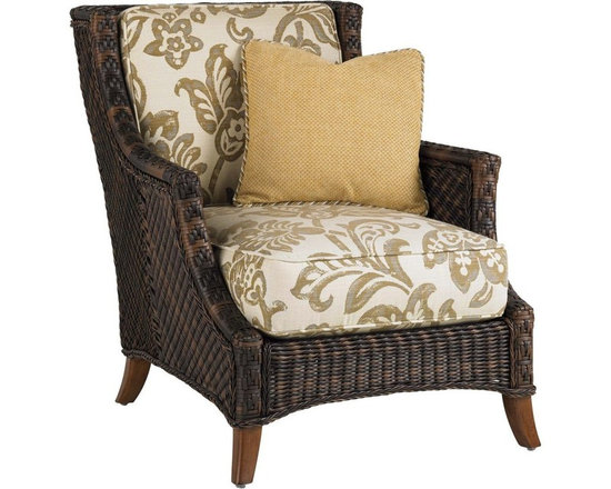 Lexington - Tommy Bahama Island Estate Lanai Lounge Chair - The classic look of wicker, hand woven and twisted into complex, intricate patterns drawing the eye and inviting the touch. This cushion set includes one 18x18 inch weather guard throw pillow to accent with contrasting fabrics and decorative trim.