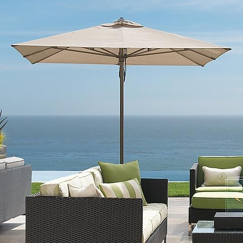 Square Outdoor Contract Patio Umbrella Frontgate