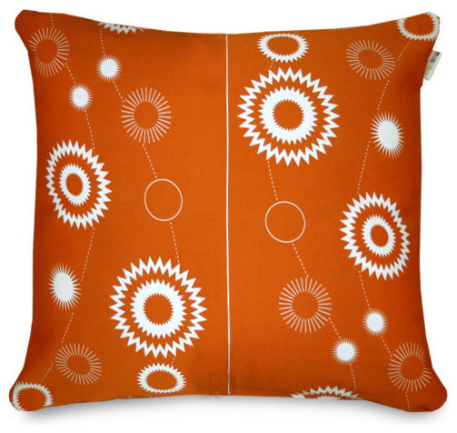 olli and lime Billie Throw Pillow - Burnt Orange modern pillows