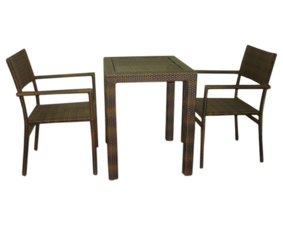 Orion 2 seater dining - aluminum powder coated frame with polyethylene weaving