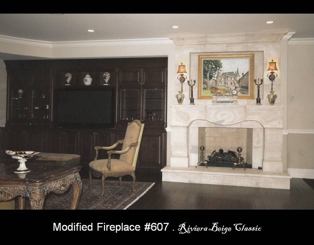 Materials Marketing - Fireplaces in Natural Stone eclectic